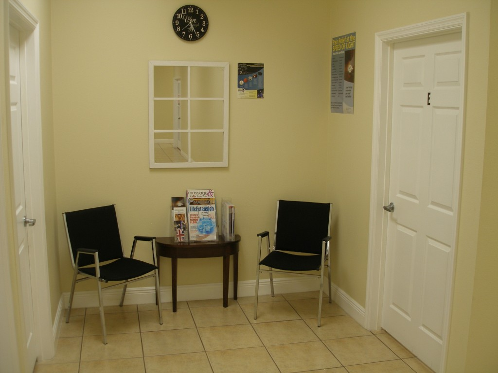 Waiting area for Clinical Touch Massage
